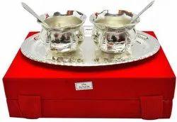 Silver Plated Handi Set For Wedding Return Gift