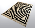 Multicolor Sge Geometric Jute Carpets