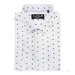 Men's Cotton Print Shirt, Size: S to XL