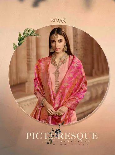 a74d8a3773 Simar Glossy Present Suit at Rs 1395 /set | Parvat Patiya | Surat ...