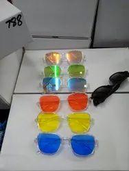 Square White Sunglasses