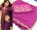 Woman Ruffle Saree