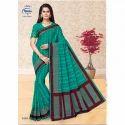Meena Printed 1416 Ladies Designer Cotton Saree, 5.5 M (separate Blouse Piece)