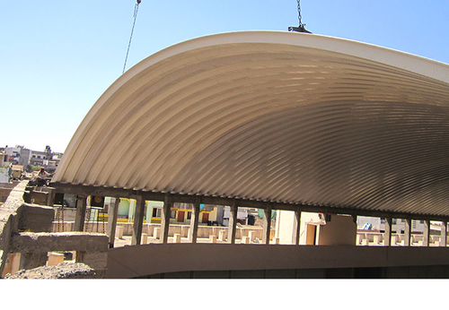 Steel Stainless Steel Trussless Roof Sant Krupa Steel