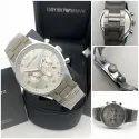 Emporio Armani Grey Steel Rubber Watch