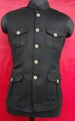 Sleeveless Leather Mens Designer Hunting Modi Jacket, Size: 36 To 44