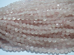 Rose Quartz Faceted Coin Beads
