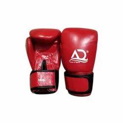 AD黑色和红色14盎司PU皮拳击手套,包装类型:盒装