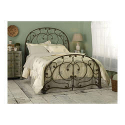 Wrought Iron Black Designer Vintage Bed