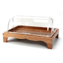 Wooden Rect. Tray With Rolltop Cover