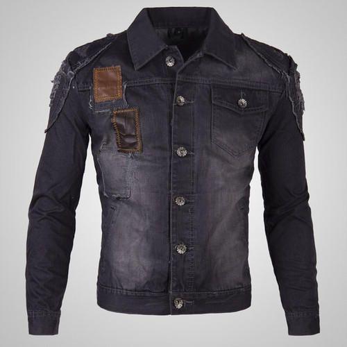 b4cadadcc Small Full Sleeve Black Mens Denim Jacket, Rs 1000 /piece | ID ...