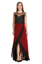 Cottinfab Women's Georgette Flared Long Dress