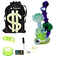 Newzenx Glass Oil Rigs Recycle Bubbler Smoking Water Pipe Bong 8 Inch Incl.
