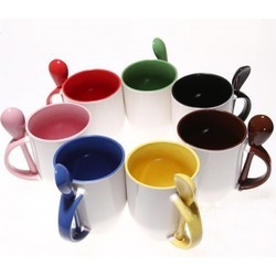 Inner Color With Spoon Mugs