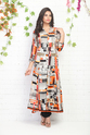 A-line Printed Rayon Kurti With Pocket