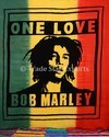 Bob Marley Hand Screen Printed Wall Hanging Tapestry 100% Cotton Wall Hanging Tapestry