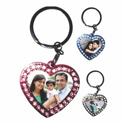 Photo Printed Sublimation Metal Key Chain Blank, For Gifts, Size: 1.75*4 Inch