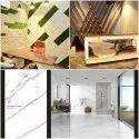 Qutone Material: Porcelain Vitrified Floor Tile, 4x3 Feet(120x90 Cm), Glossy