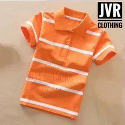 Party Wear Stripes Kids Polo T Shirt