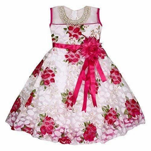 94e396c8e Party Wear Floral Print Kids Fancy Frock