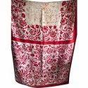 Red Printed Silk Saree