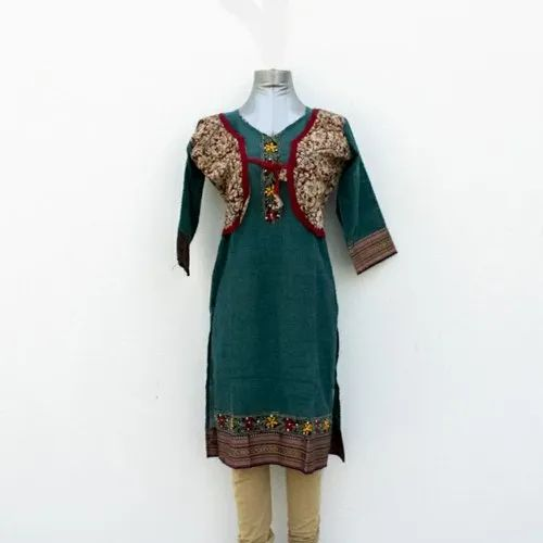 Embroidered Kurti With Jacket