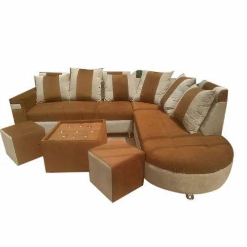 6 Seater L Shape Sofa Set At Rs 39000 Set Lakadganj Nagpur Id