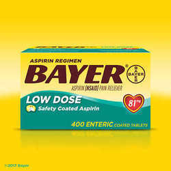 Aspirin Regimen Bayer, 81 mg. Low Dose, 400 Tablet