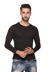 Men''s Solid Black T-shirt
