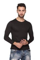 Men's Solid Black T- Shirt