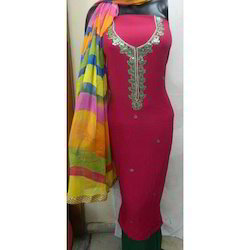 Pink Gota Patti Suit With Dupatta