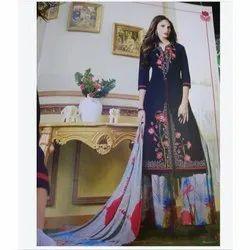 Cotton XXL Ladies Printed Palazzo Suit