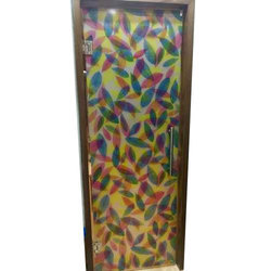 UPVC Printed Glass Door