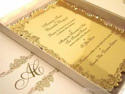 Gold Acrylic Box Invite