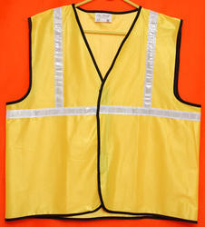 Reflective Vizwear Vests / Jackets 1 Yellow Front Opening (V-3)