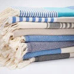 Colorful Stripes Cotton Fouta Turkish Hammam Bath Travel Eco Friendly Beach Towels