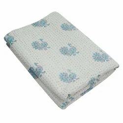 Indian Handmade Cotton Kantha Quilt