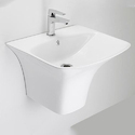 White Ceramic Thin Rim Pedestal Wash Basin