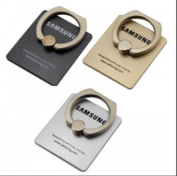 Combo of 3 360 Degree Rotating Finger Ring Holder Stand For Samsung Mobile Phones & Tablets (Gold)