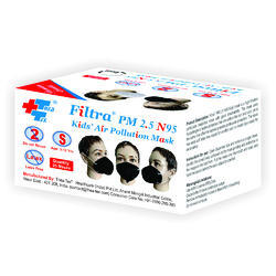 Disposable Filtra PM 2.5 N95 Kids Air Pollution Mask