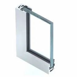 Twin Pro Aluminium Glazing Profile, Chrome, For Door & Window
