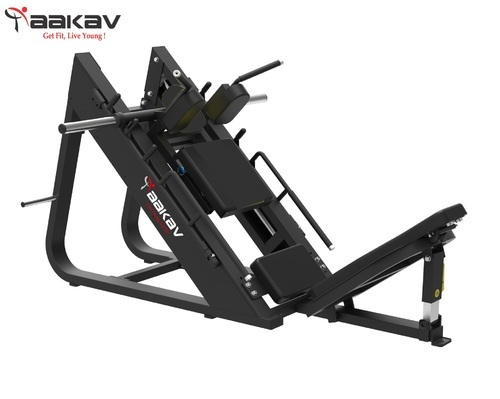 Iron Yellow & Black Leg Press & Hack Slide X1 Series Aakav Fitness, Akv-x1-lphs, for Gym