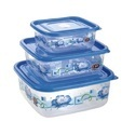 Square Plastic Food Container Delight 3pc