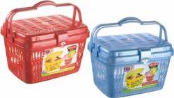 Plastic Picnic Basket Velvet