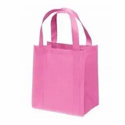 Pink Loop Handle Non Woven Shopping Carry Bag, Capacity: 1-5 kg