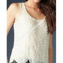 Beaded Embroidered Top
