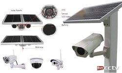 Solar Integrated Street Lights With Inbuilt Cctv Series 30watt