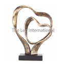 Metal Handicrafts Articles heart shape sculpture