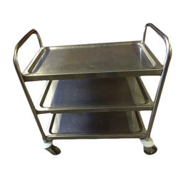 Silver Stainless steel SS Trolley