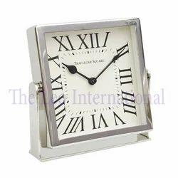 Stainless Steel square shape desktop Gift Clock